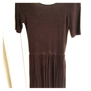 Anthropologie Bordeaux Dress! 3/4 sleeves